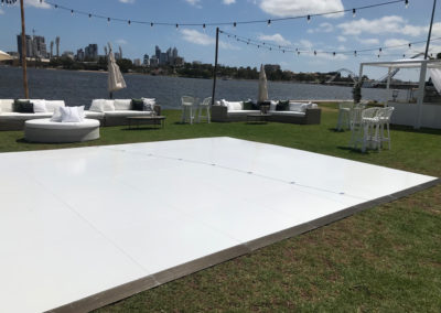 Dance floor with Perth City backdrop