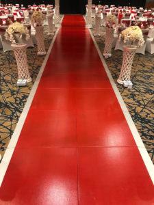Red carpet dance floor