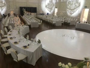 customised circle dance floor