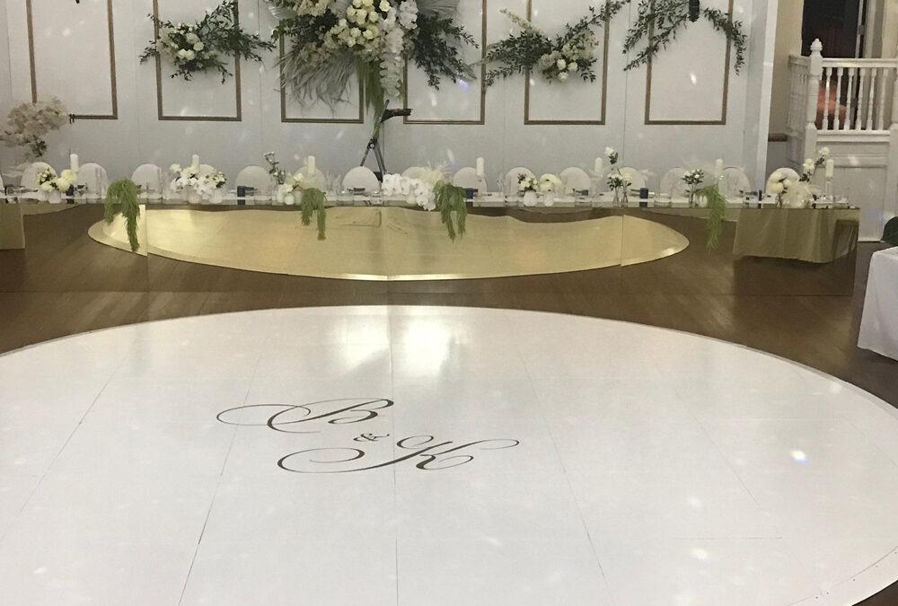 Wedding Dance Floor with monogram