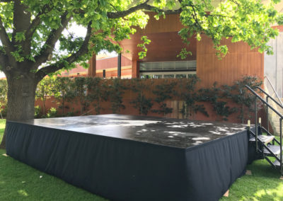 Outdoor stage at Mandoon Estate
