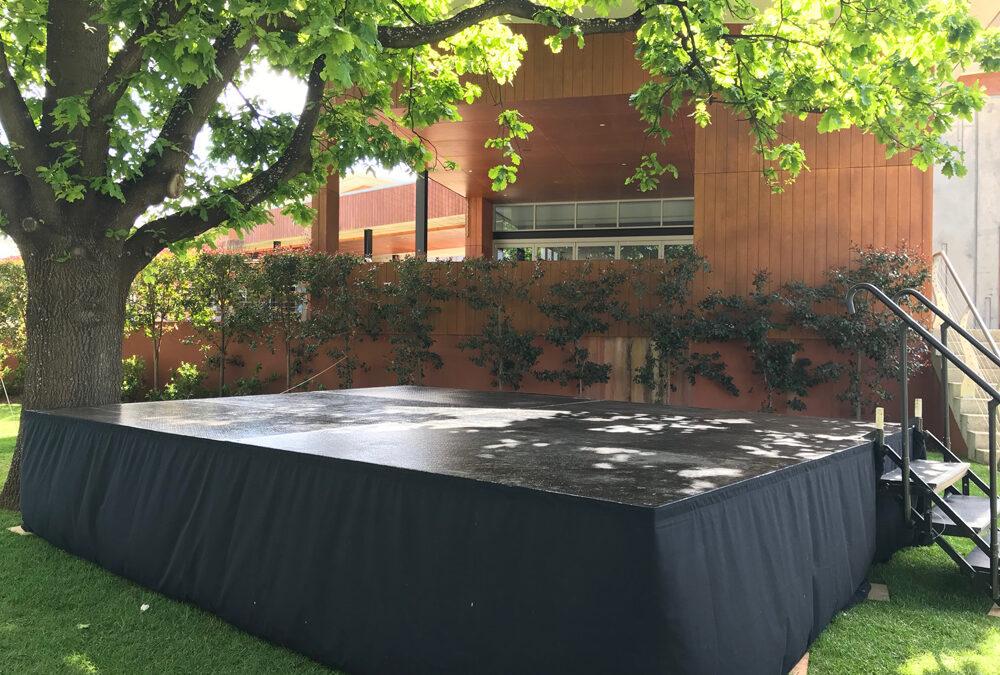 Outdoor stage at Mandoon Estate