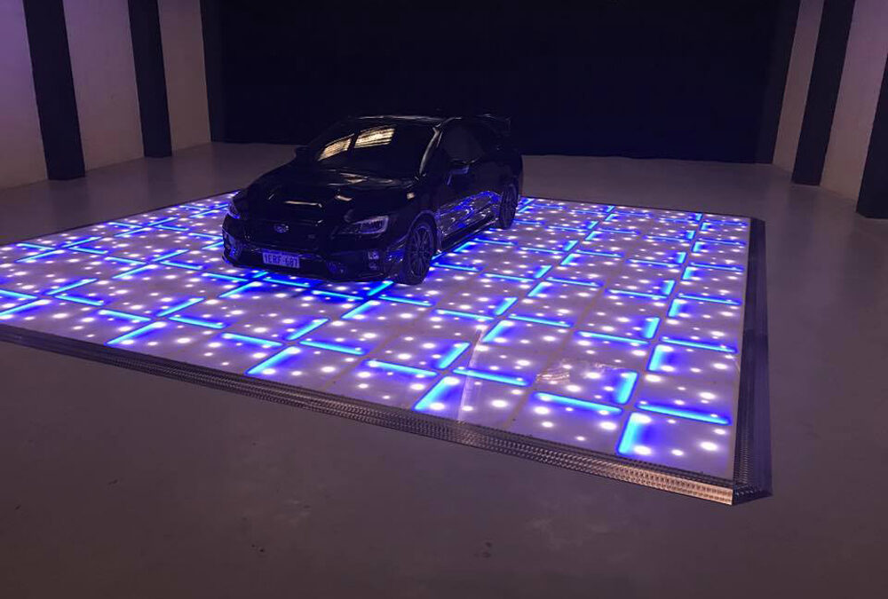 Car display on Blue LED with stars