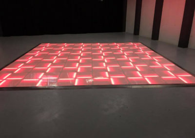 Red LED dance floor