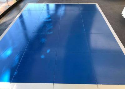 blue dance floor