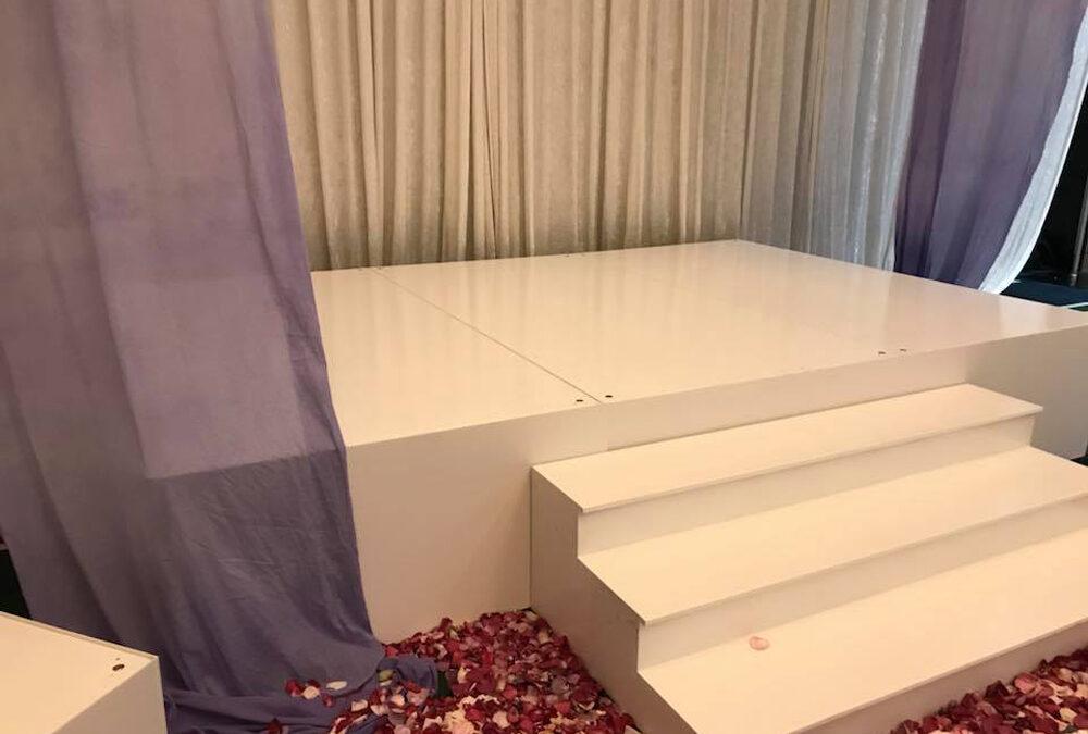 White wedding stage at Crown Resort