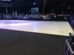 Massive white gloss dance floor 19m x 9m Perth Convention Centre