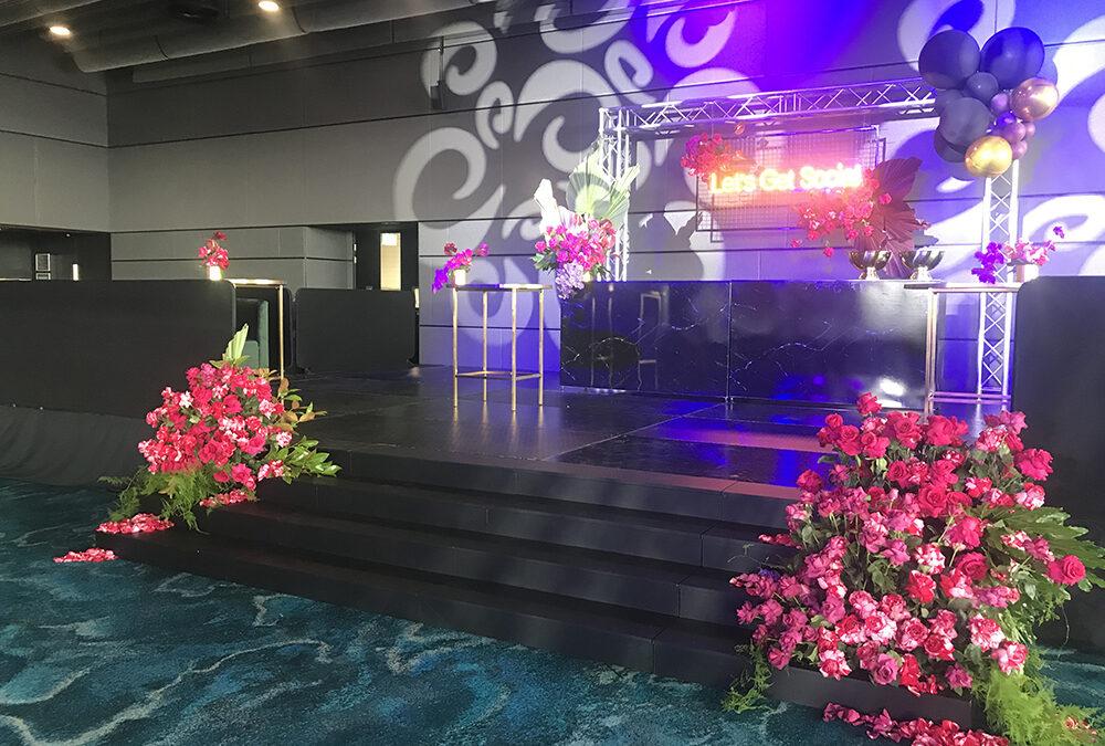 Raised Stage for Corporate Event at Optus Stadium