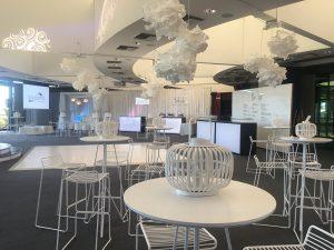 White gloss dance floor