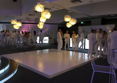 White gloss dance floor